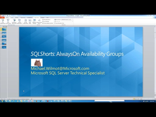 SQLShorts : AlwaysOn Availability Groups for SQL 2012