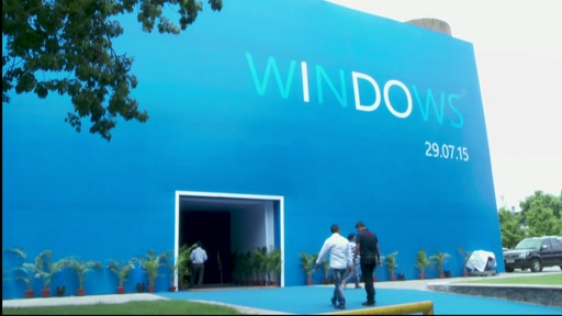 B-roll: Windows 10 Launch - New Delhi