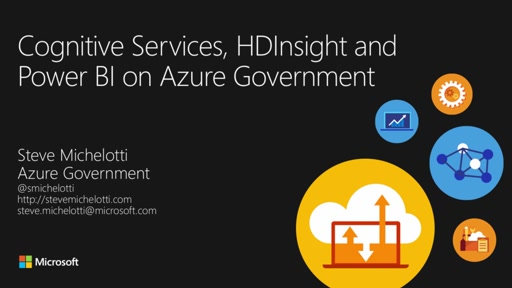 Cognitive Services, HDInsight, and Power BI on Azure Government