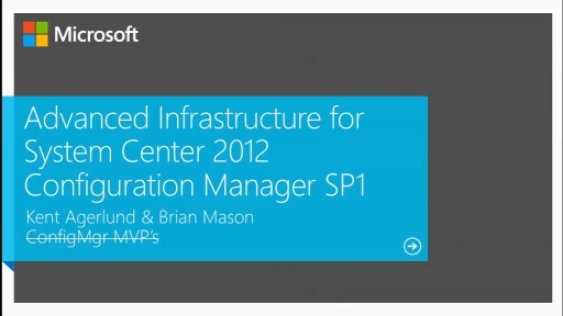 Advanced Infrastructure for System Center 2012 Configuration Manager SP1