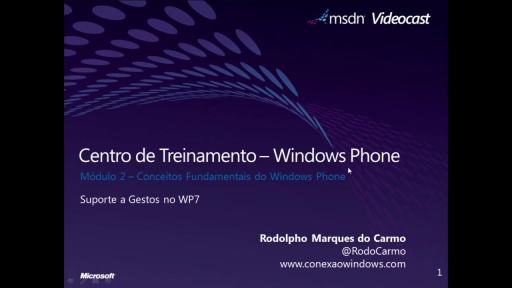 Windows Phone 7 - Suporte a gestos