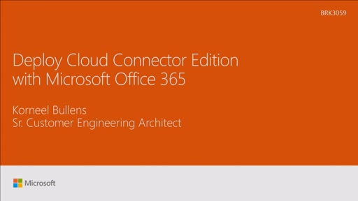 Deploy Cloud Connector Edition with Microsoft Office 365