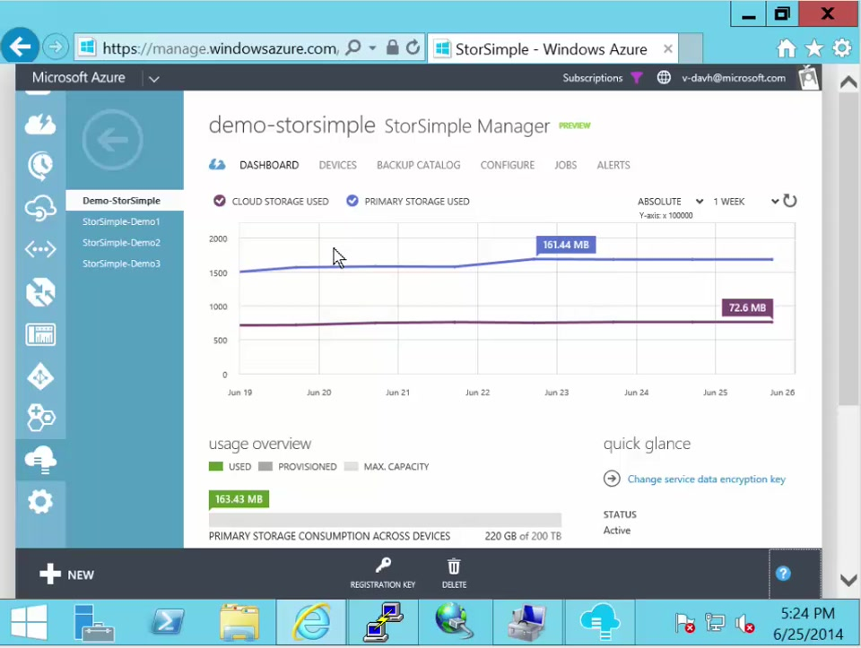 StorSimple reports and support options