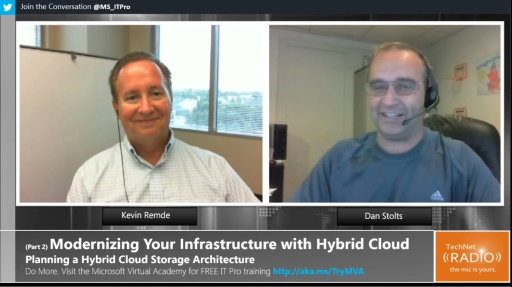 TechNet Radio: (Part 2) Modernizing Your Infrastructure with Hybrid Cloud - Planning a Hybrid Cloud Storage Architecture