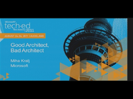 Good architect vs. Bad architect
