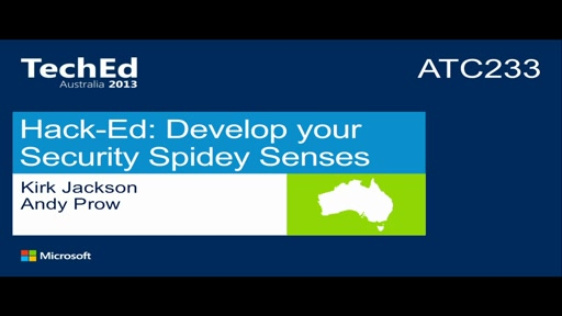 Hack-Ed: Develop your Security Spidey Sense