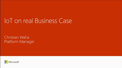 Meetup: use Microsoft Azure IoT on a real business case