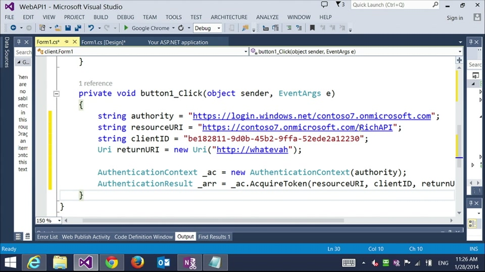 Azure Identity 106 - Vittorio and Scott create a Windows application that authenticates against Azure Active Directory