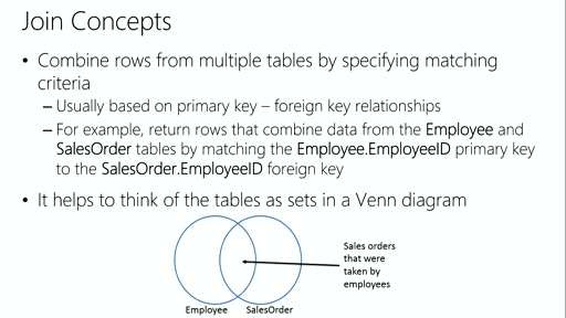 Querying with Transact-SQL: (03) Querying Multiple Tables with Joins