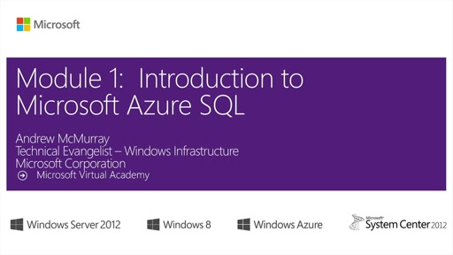 (Module 1) Introduction to Microsoft Azure SQL
