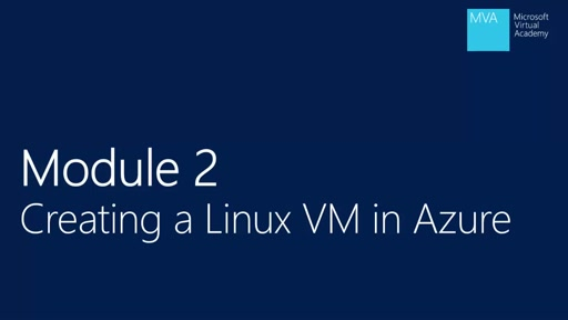 Module 2: Creating a Linux VM in Azure