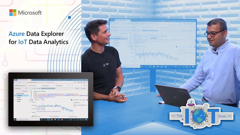 Learn how to take advantage of #Azure #DataExplorer time series and #ML capabilities to build custom #IoT analytics platforms on the #IoTShow with @obloch