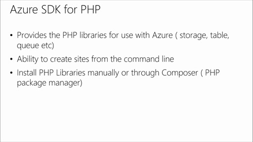 PHP for Azure: (06) Deploying to Azure