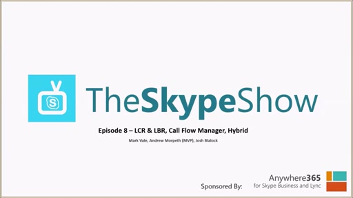 The Skype Show Episode 8 - LCR & LBR, Call Flow Manager, Hybrid