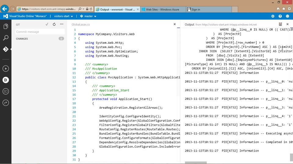 Getting started with ASP.NET | Visual Studio Online ...