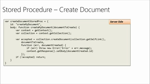 Developing Solutions with Azure DocumentDB: (06) Server-Side Programming