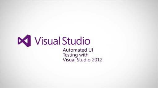 Automated UI testing with Visual Studio 2012