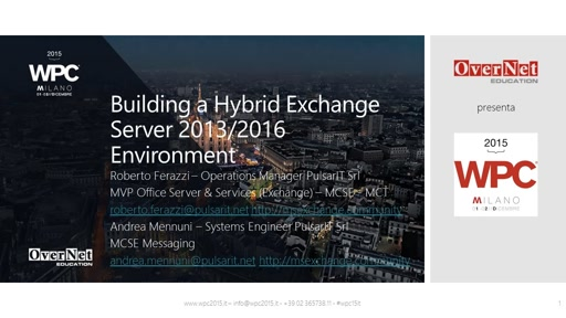 Building a Hybrid Exchange Server 2013/2016 Environment