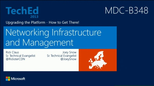 Upgrading the Platform - How to Get There! Part 2: Networking Infrastructure and Management