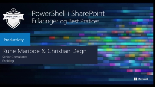 PowerShell i SharePoint - Erfaringer & Best Practices