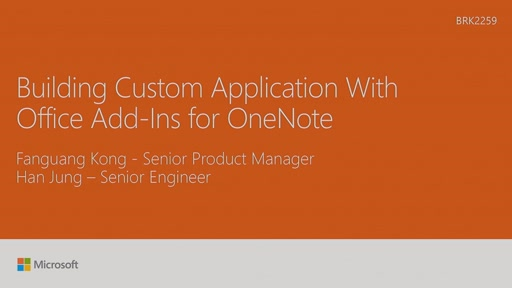 Build custom applications with Microsoft OneNote