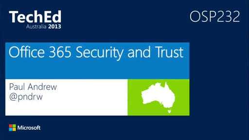 Office 365 Security and Trust
