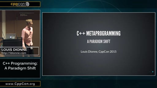 C++ Metaprogramming: A Paradigm Shift