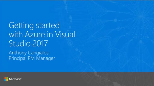 Getting started with Azure in Visual Studio 2017
