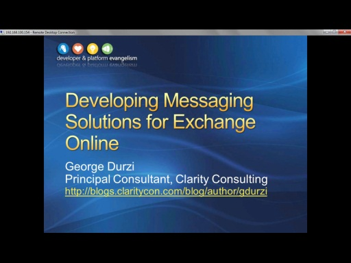 Session 10 - Part 1 - Developing Messaging Solutions for Exchange Online