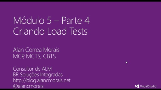 MVA Visual Studio para Teste de Software - Criando Web Load Tests