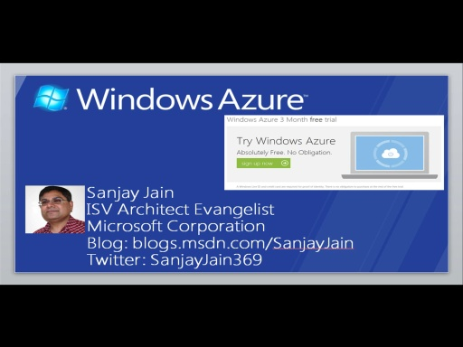 Windows Azure – How Do I: Sign-up a free 3-months Trial Account