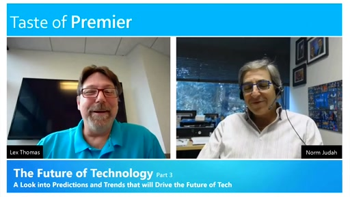 Microsoft's CTO of Services, Norm Judah Describes How the Future Truly is NOW!