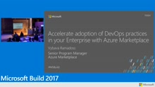 Accelerate setting up your DevOps environment using Azure Marketplace