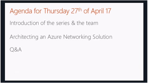 April - Architecting an Azure Networking Solution