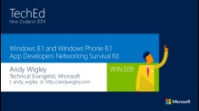 Windows 8.1 and Windows Phone 8.1 App Developers Networking Survival Kit