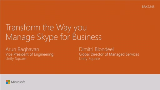 Transform the way you manage Skype for Business