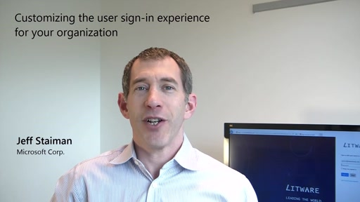 Customizing the sign-in experience for your organization with Azure Active Directory