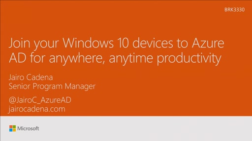 Join your Windows 10 devices to Azure AD for anywhere, anytime productivity