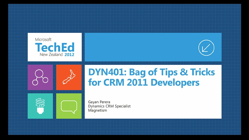 Advanced Bag of Tips & Tricks for Microsoft Dynamics CRM 2011 Developers