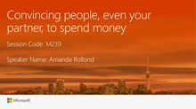 Convincing people, even your partner, to spend money