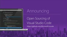 Visual Studio Code, now open source, with extensibility