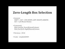 Zero-Length Box Selection