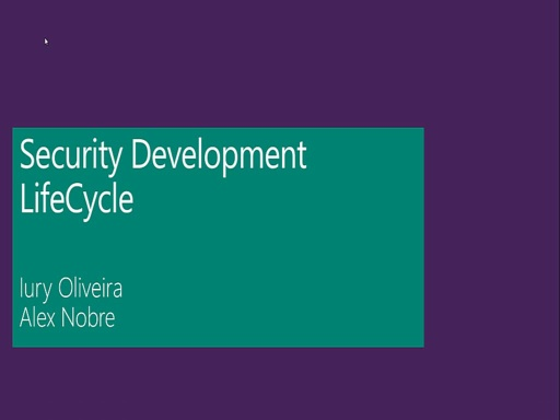 Security Development LifeCycle - Módulo 01