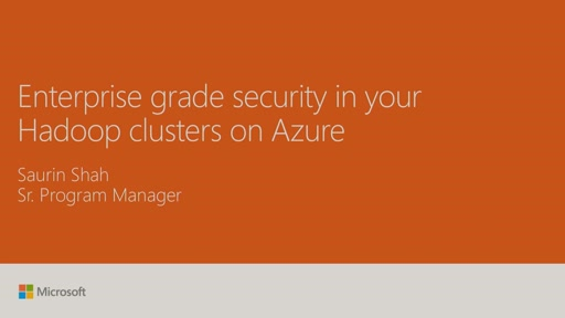 Secure your Enterprise Hadoop environments on Azure