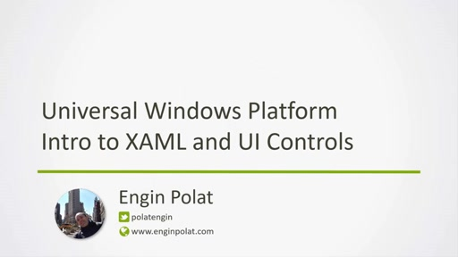 MSP Webinar 2016 UWP Intro to XAML and UI Controls