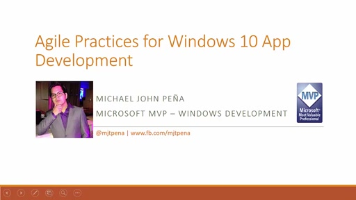 Michael John -Agile Practices for Windows 10 App Development