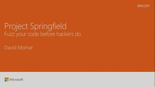 Security Testing Innovation with Project Springfield
