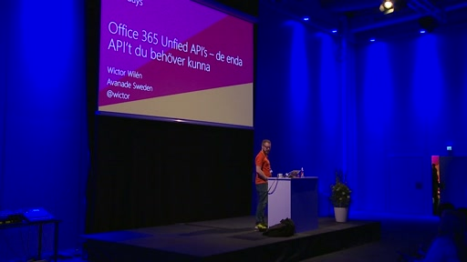 Office 365 Unified API's – det enda API't du behöver kunna