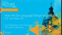 How We Do Language Design at Microsoft (C#,Visual Basic,F#)