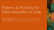 Patterns and Practices for Data Integration at Scale